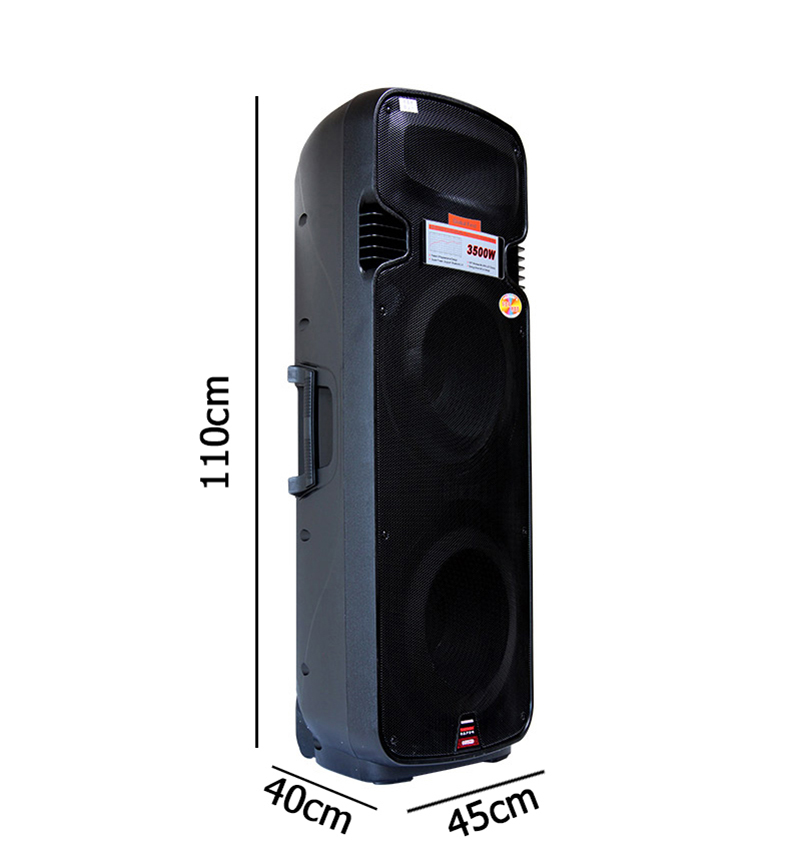 15 INCH A65 Loa vali kéo di động hát Karaoke Temeisheng 2 bass A65