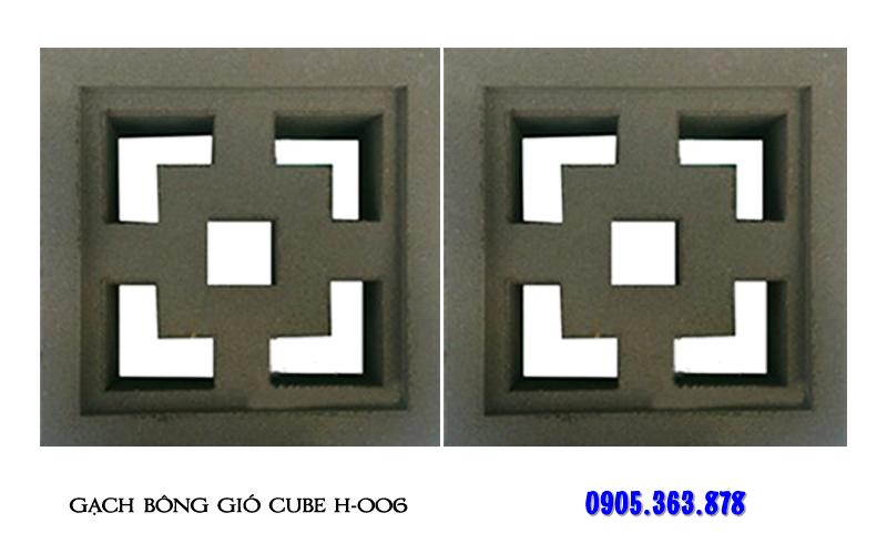 Gạch bông gió xi măng cube H-006
