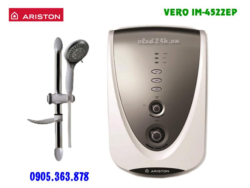 Máy nước nóng trực tiếp có bơm Ariston VERO 4522EP bạc