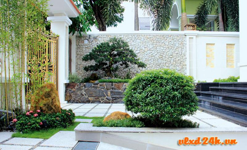 Ốp tường với đá tự nhiên