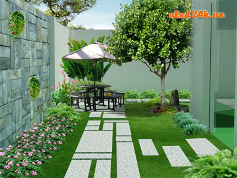 Trang trí sân vườn với đá trang trí tự nhiên