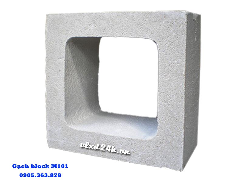 Gạch block M101 xây tường trang trí