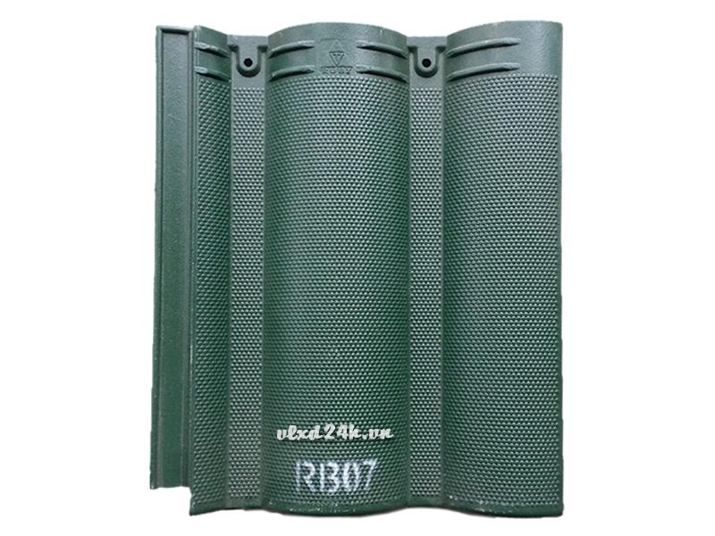 Ngói màu RUBY RB07 màu xanh rêu