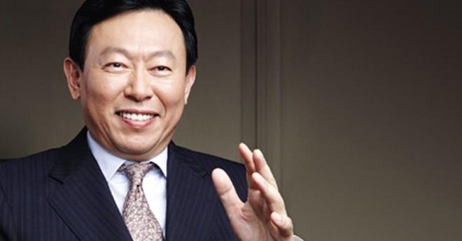 bulong.Chủ tịch tập đoàn Lotte Shin Dong-bin.