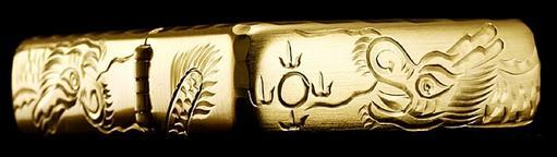 zippo rồng vàng