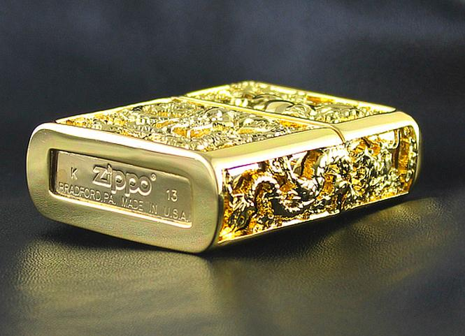 Zippo rồng ngựa ốp vàng làm quà tặng rất phù hợp