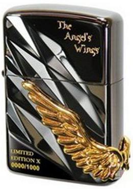 zippo cánh thiên thần đen 3
