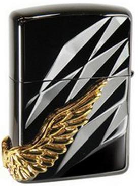zippo cánh thiên thần đen