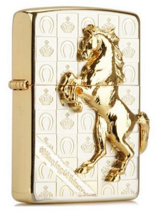 Zippo ngựa bạc mạ vàng Winning Winning