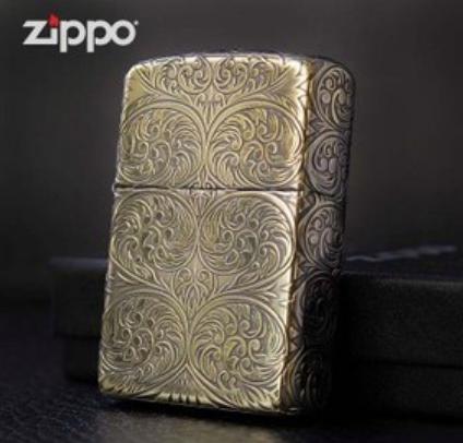 ZIPPO Armor hoa văn khắc sâu