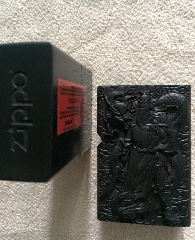 zippo điêu khắc quan công