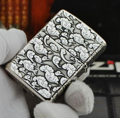 zippo bạc 925 rồng