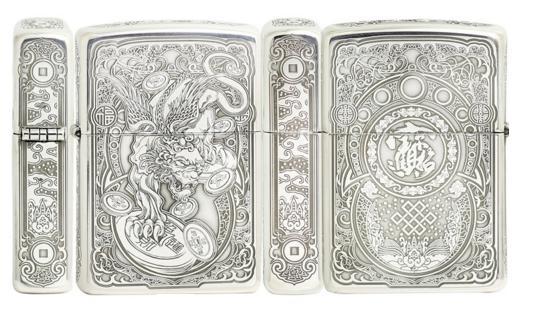 bật lửa Zippo 1941 Sterling Silver bạc 925 kỳ lân tiền