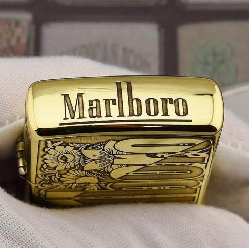 Zippo Marlboro hoa văn dập nổi