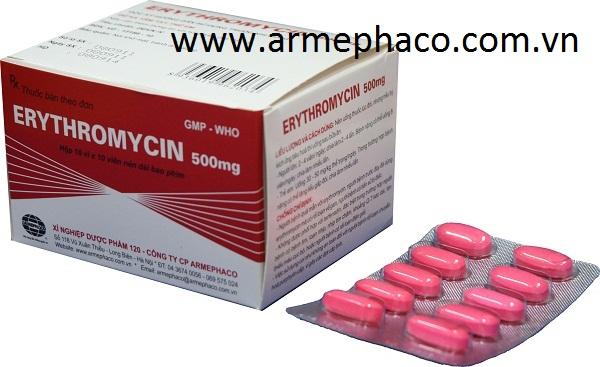 Erythromycin 500mg/kháng sinh -chống nấm/thuốc tân dược