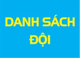 Danh sach doi bong