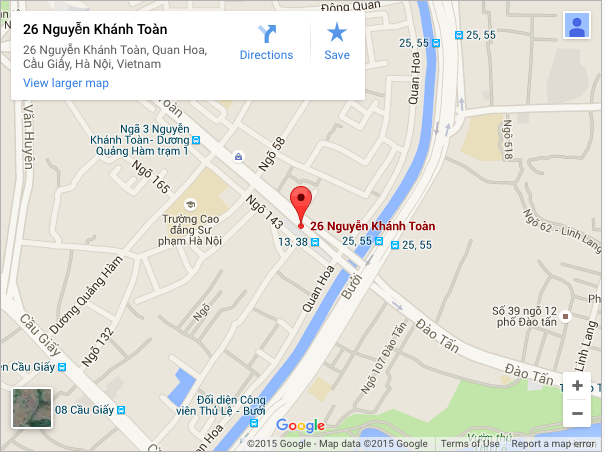 Địa chỉ Beemart -Thế giới đồ làm bánh Số 5 ngõ 26 Nguyễn Khánh Toàn