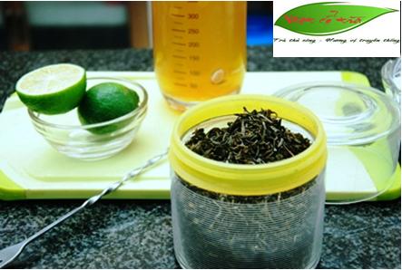 cách pha trà chanh