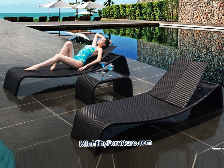 Ghế hồ bơi MT441 - Sản phẩm nội thất nhựa giả mây Minh Thy
