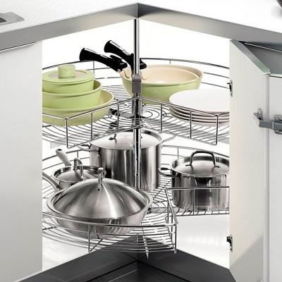 thiết- bị -đồ -nội -thất -Mâm -xoa- 3/4 inox -TR270A - phụ- kiện -tủ -bếp- EUROGOLD
