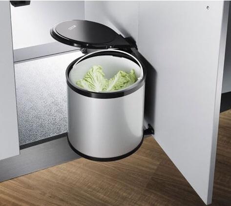 Thùng -rác- inox- nhỏ 8L E0101 - Phụ -kiện- tủ- bếp -EUROGOLD