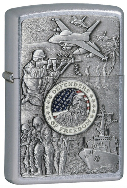 Zippo Joined Forces Emblem Street Chrome