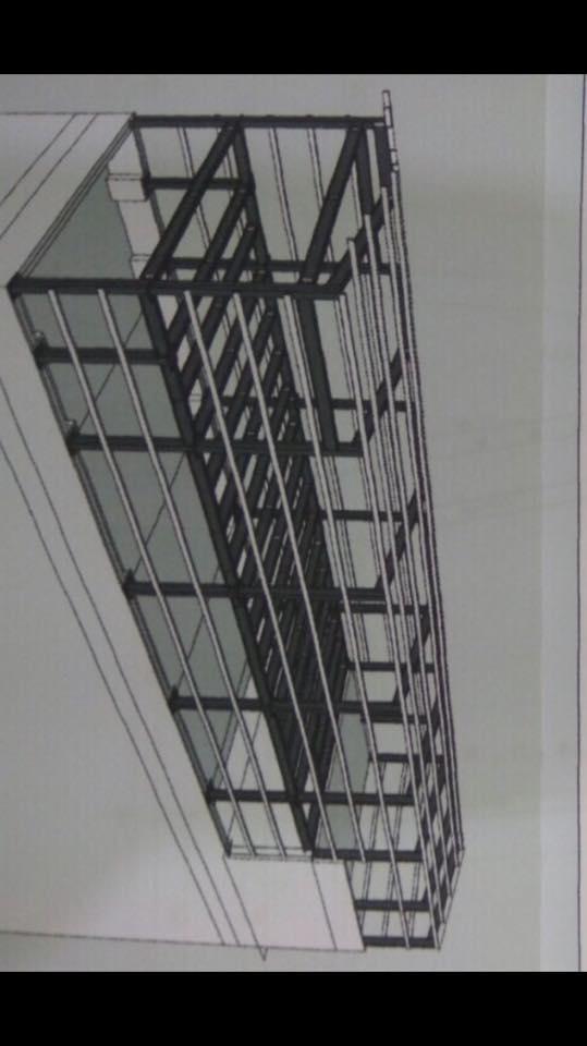 Bản vẽ tổng thể công trình sàn bê tông nhẹ và khung thép tiền chế 300m2 tại Láng Hạ