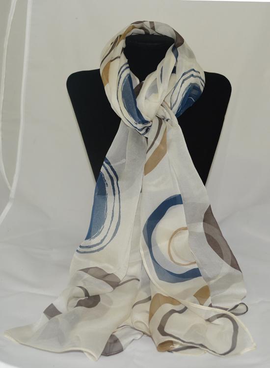 khăn lụa tơ tằm in họa tiết KL720