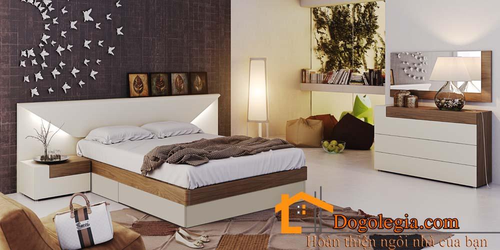 Bộ giường tủ gỗ công nghiệp đẹp ngất ngây