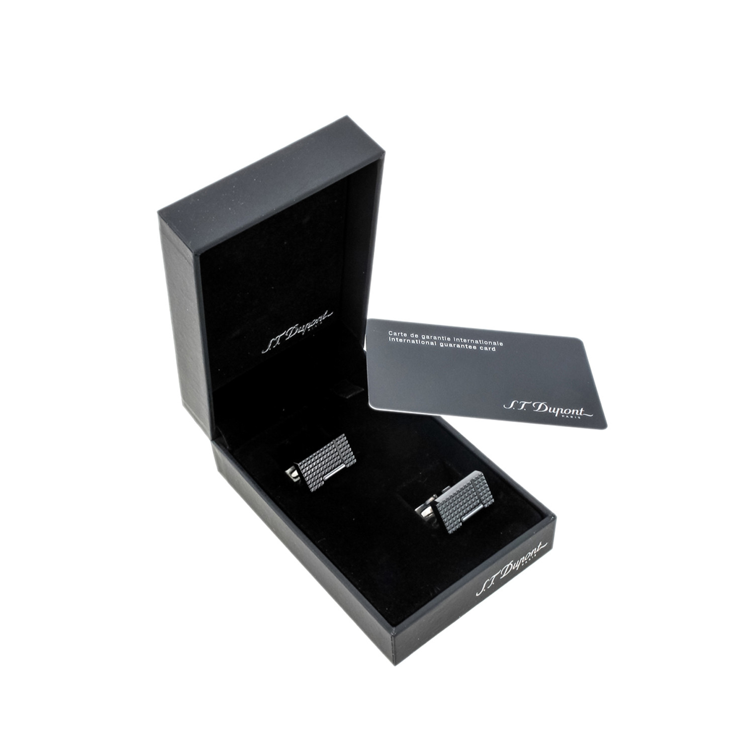 Măng séc S.T. Dupont Cufflinks, Black PVD Lighter 005370N