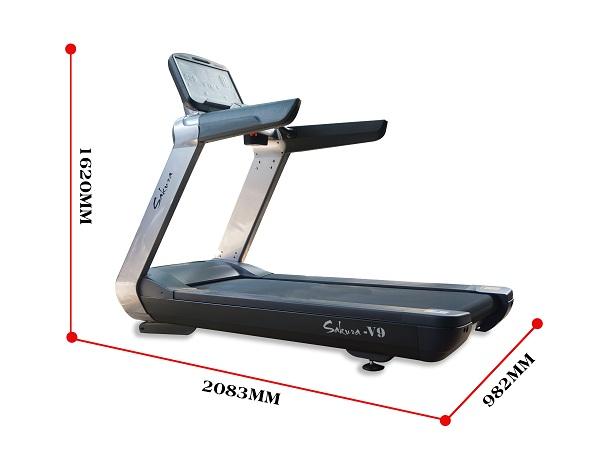 Kích thước lắp đặt máy chạy bộ sakura V9
