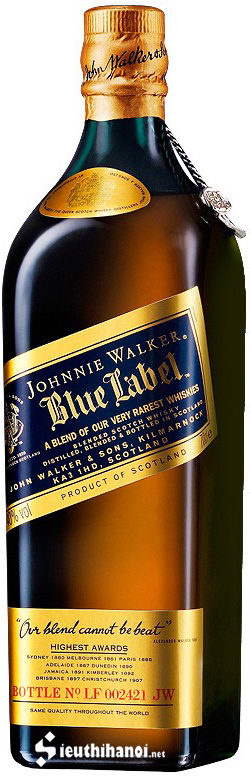 giá rượu johnnie walker blue label