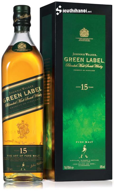 giá rượu johnnie walker green