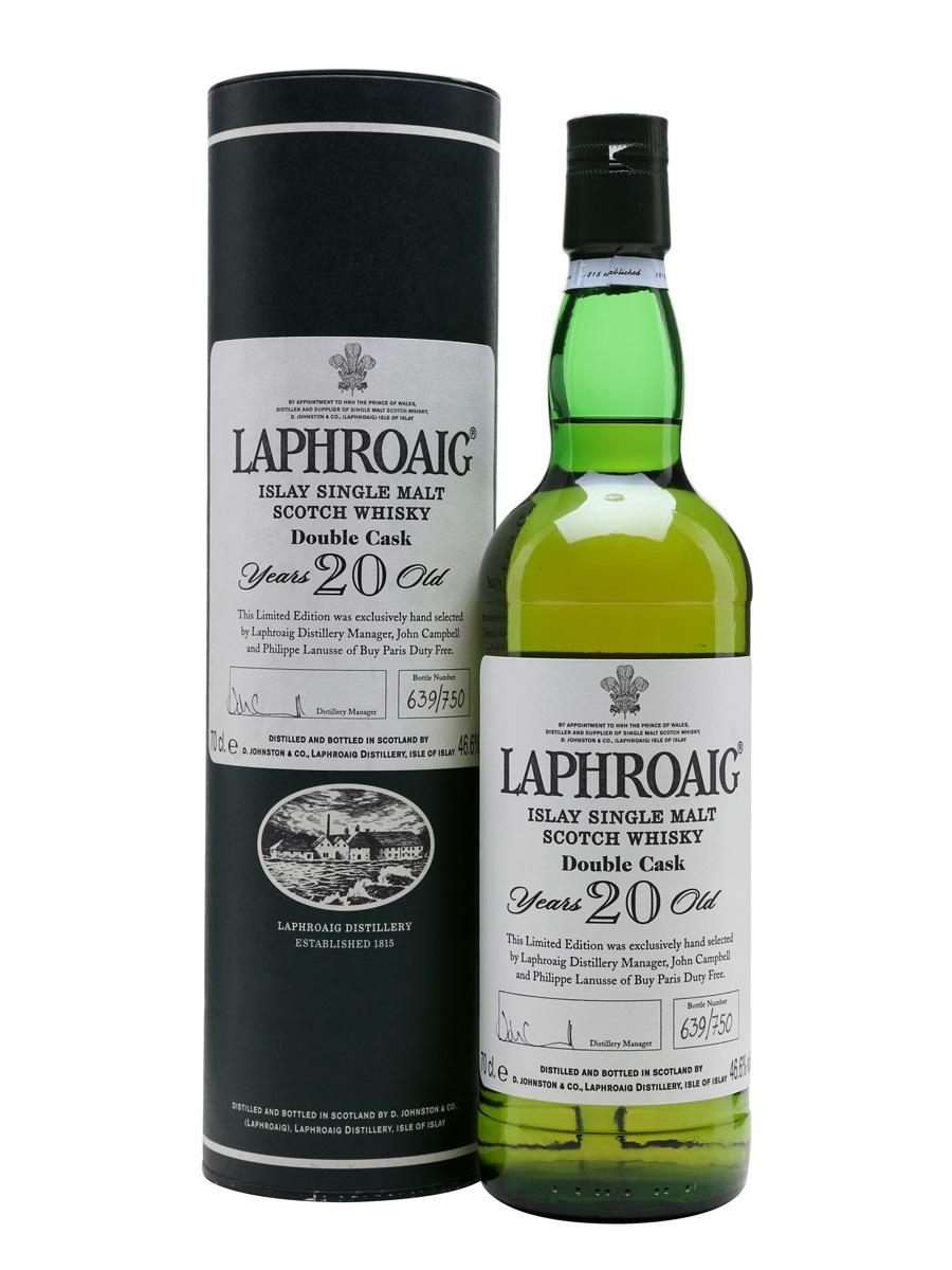 giá rượu Laphroaig 20 năm Double Cask
