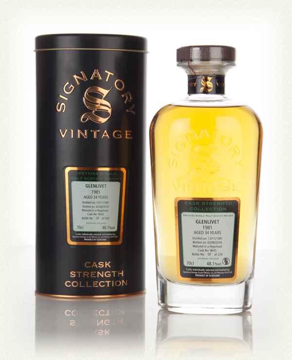 giá rượu Glenlivet 1981 34 năm