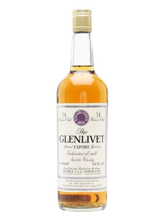 giá rượu Glenlivet 34 năm