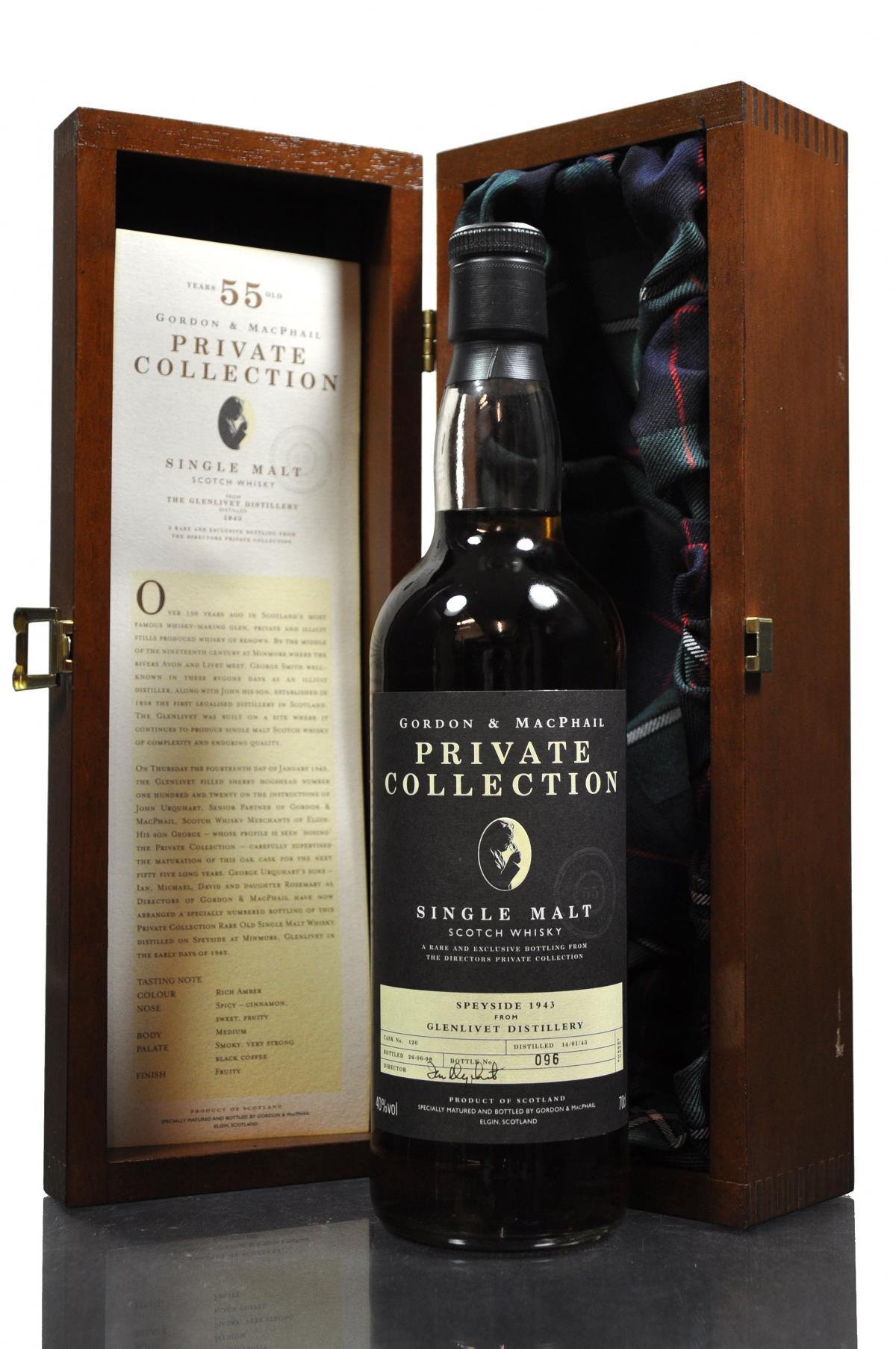giá rượu Glenlivet 1943 55 năm