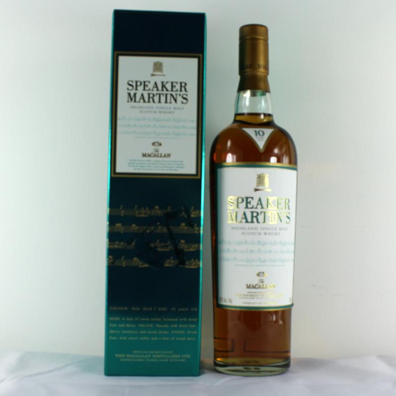 giá rượu Macallan Speaker Martin's 10 năm