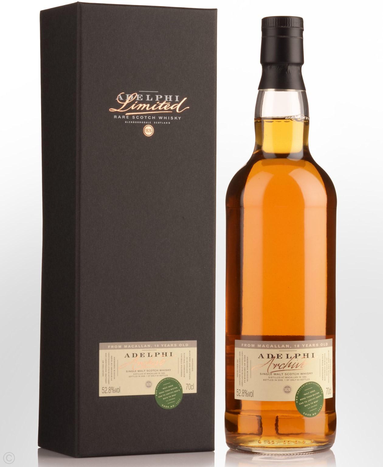 giá rượu Macallan Adelphi 1990 18 năm