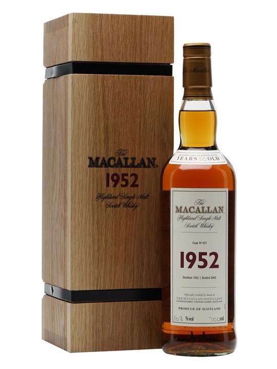 giá rượu Macallan 1952 50 năm