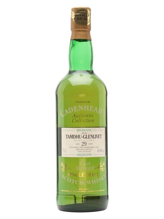 giá rượu Tamdhu Glenlivet 1963 29 năm