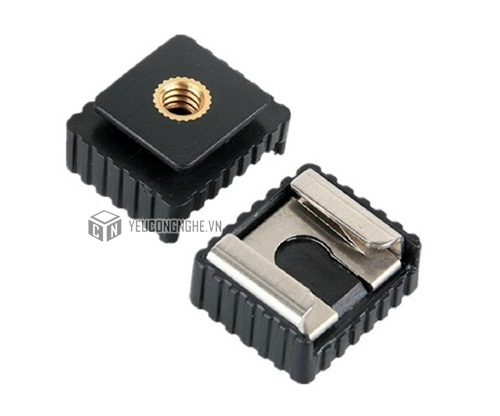 Gá đổi đế đèn Flash Hot shoe mount to ¼ inch adapter
