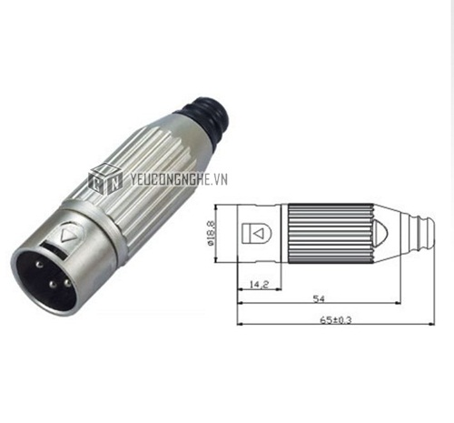 Jack cắm XLR 3-pin male connector XLR-3M