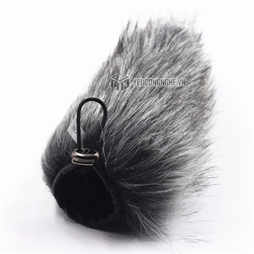 Lọc gió cho mic Rode Videomic Go Microphone Furry wind cover Huanor HN-17