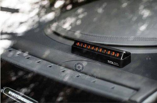Thẻ số điện thoại đặt Taplo xe hơi, ô tô Metal Tita