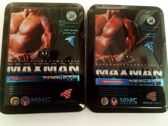 Maxman tăng sự cương cứng của dương vật