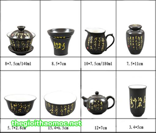 Bộ ấm trà Đường thi cao cấp