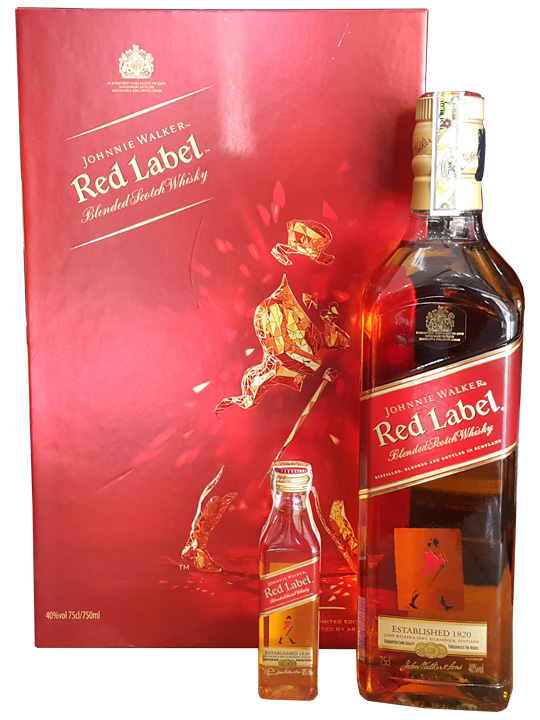 giá rượu Johnnie walker Red label gift box 2016