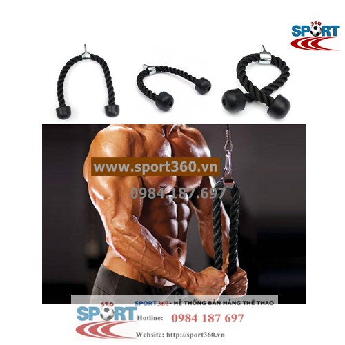Dây thừng tập tay tricep rope