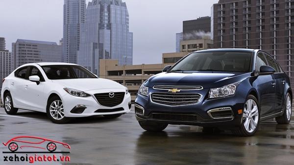 so sanh xe Chevrolet Cruze va Mazda 3 sedan
